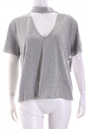 NA-KD T-Shirt hellgrau Street-Fashion-Look