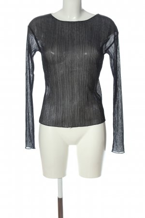 NA-KD Blusa transparente negro look casual