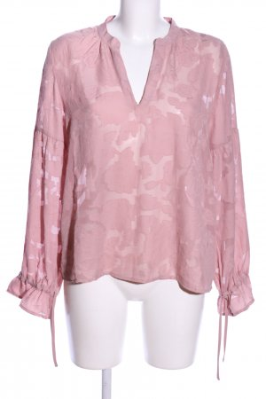 NA-KD Transparenz-Bluse pink Business-Look