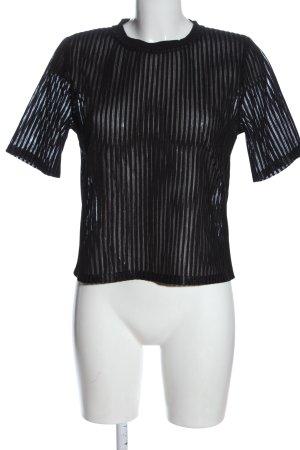 NA-KD Transparenz-Bluse schwarz Casual-Look