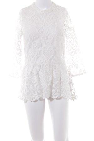 NA-KD Transparenz-Bluse weiß Elegant