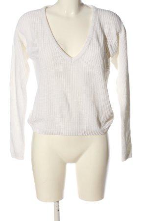NA-KD Jersey con cuello de pico blanco look casual