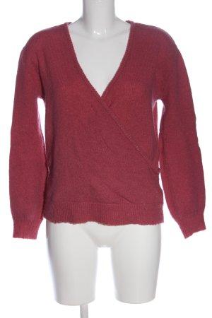NA-KD V-Ausschnitt-Pullover pink Casual-Look