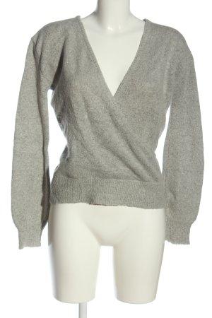 NA-KD Jersey con cuello de pico gris claro moteado look casual