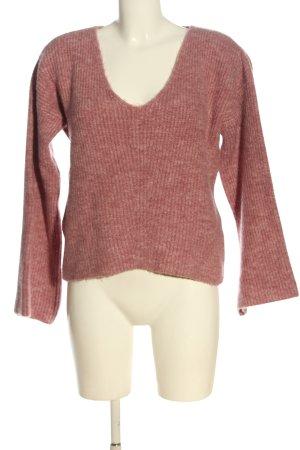 NA-KD Jersey con cuello de pico rosa moteado look casual