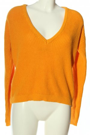 NA-KD Jersey con cuello de pico naranja claro look casual