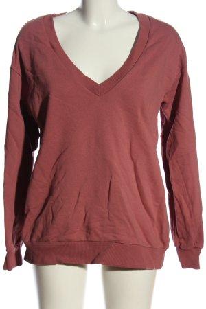 NA-KD V-Ausschnitt-Pullover rot Casual-Look