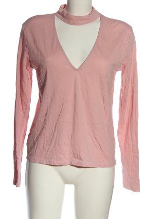 NA-KD V-Ausschnitt-Shirt pink Casual-Look