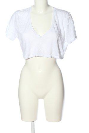 NA-KD V-Ausschnitt-Shirt weiß Casual-Look
