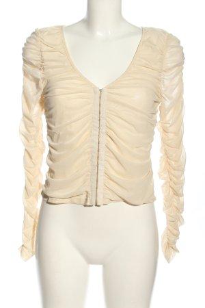 NA-KD Langarm-Bluse wollweiß Elegant