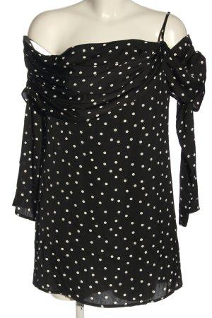 NA-KD Vestido estilo flounce negro-blanco estampado a lunares look casual