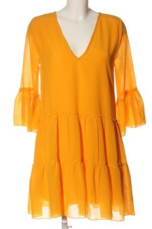 NA-KD Vestido estilo flounce amarillo pálido look casual