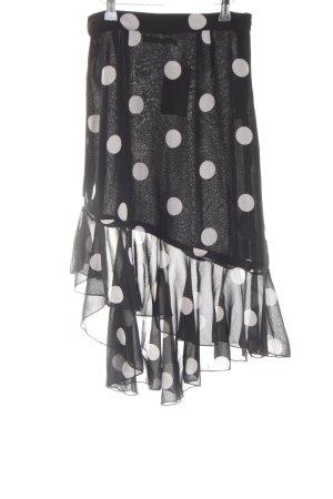 NA-KD Volanten rok zwart-wit gestippeld patroon transparante uitstraling