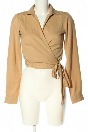 NA-KD Wickel-Bluse nude Casual-Look
