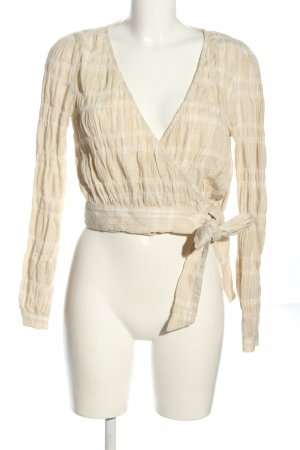 NA-KD Wickel-Bluse nude-weiß Allover-Druck Business-Look
