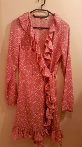 Nakd Robe portefeuille rose-blanc