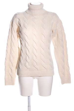 NA-KD Zopfpullover creme Zopfmuster Casual-Look