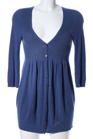 Nababila Strick Cardigan blau Casual-Look