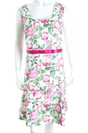 Naber Collection Trägerkleid Blumenmuster Textil-Applikation