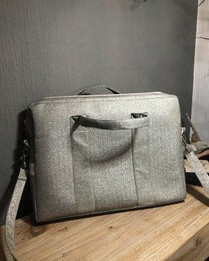 Funda para portátil gris claro-color plata