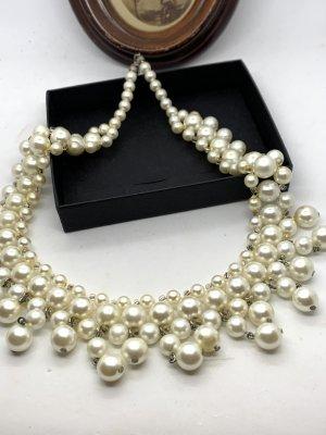 Vintage Collier de perles blanc