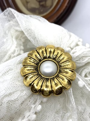 Vintage Spilla oro-bianco