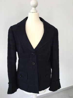 Nachtblaue Jacke von STIFF mit Glitzer und schönen Details Gr. 42
