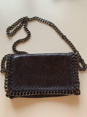 Nachtblaue Unhängetasche aus Leder