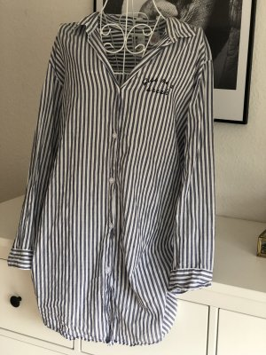 H&M Pyjama white-steel blue