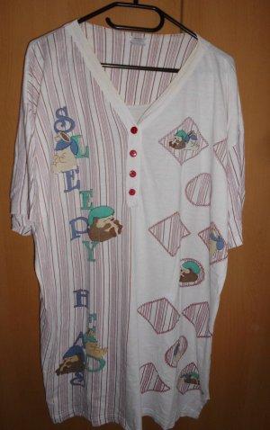 Pijama blanco puro-púrpura