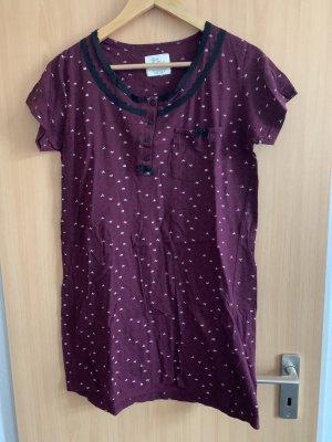 Nachthemd Bordeaux dunkelrot