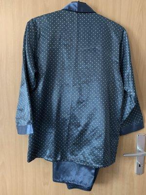 Piżama szary niebieski