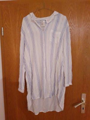 H&M Abito blusa camicia bianco-blu