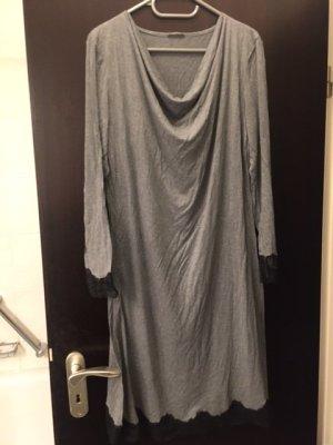 Schiesser Pijama gris oscuro-negro Algodón