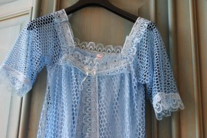 Night Coat baby blue polyester