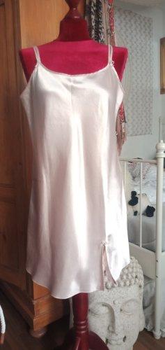 Nachthemd Nachthemden Set weiß rosa Negligee Sleepwear Nightwear Hunkemöller L