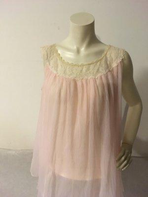 Nachthemd Rosa mit Spitzenkragen