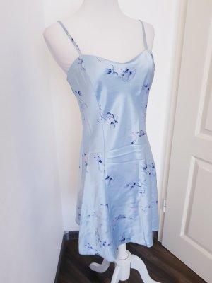 Négligé bleu-bleu clair tissu mixte