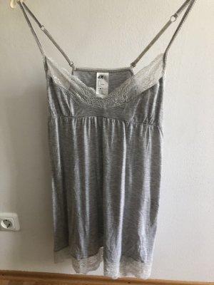 H&M Sukienka ze stretchu jasnoszary-biały