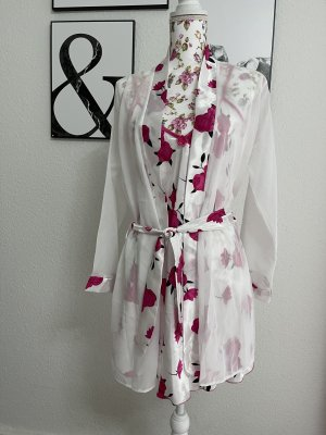 Dressing Gown white-raspberry-red