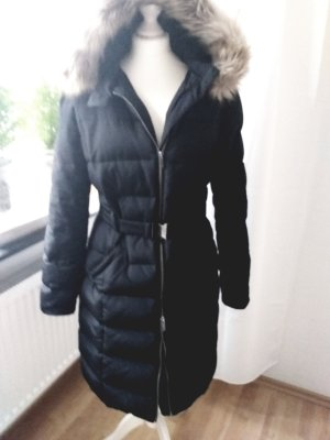 Promod Quilted Coat black polyester