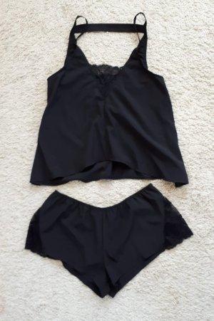 Piżama czarny Wiskoza