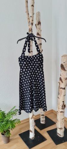 Halter Dress white-black