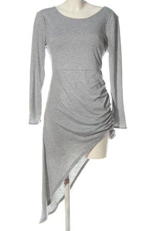 Nadasha Robe bas asymétrique gris clair moucheté style décontracté