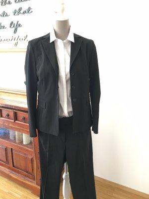 Montego Pinstripe Suit black-cream mixture fibre