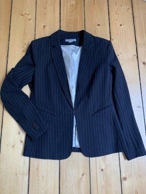 H&M Klassischer Blazer blu scuro-bianco