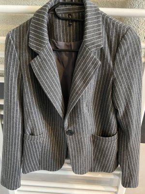 Only Korte blazer grijs-wit