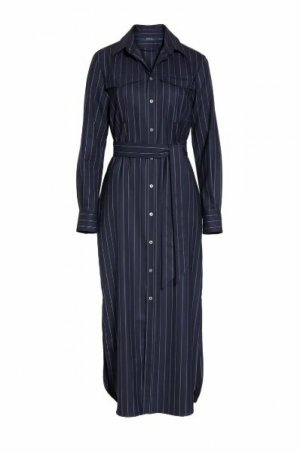 Ralph Lauren Sukienka maxi ciemnoniebieski Wełna