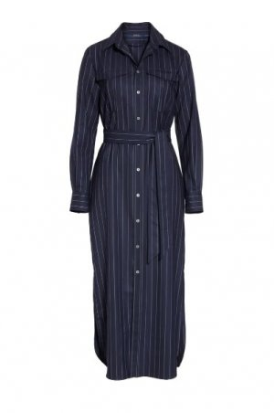Nadelstreifen-Hemdkleid aus Wolle Polo Ralph Lauren Size 6