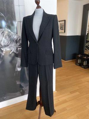 Zara Costume à rayures noir laine